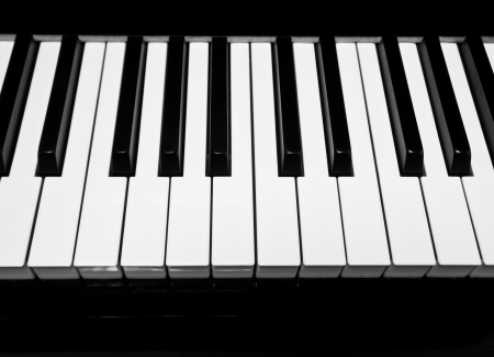 The closeup of piano key  Stock Photo