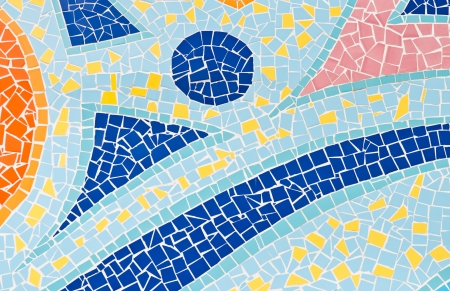 trencadis: The colorful broken tiles (trencadis) pattern background