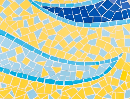 The colorful broken tiles (trencadis) pattern background photo