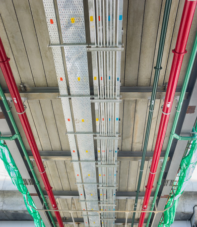 containment: The cable tray and piping construction at site