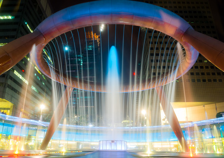 Fountain show at Fountain of Wealth Suntec Tower Singapore