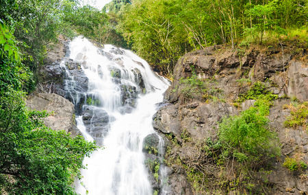 Beautiful scene of Sarika waterfall located in Nakornnayok, Thailand