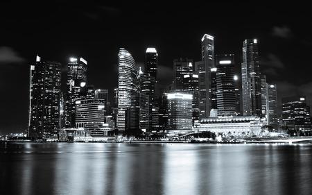 metropolis: The cityscape architecture building business metropolis concept Stock Photo