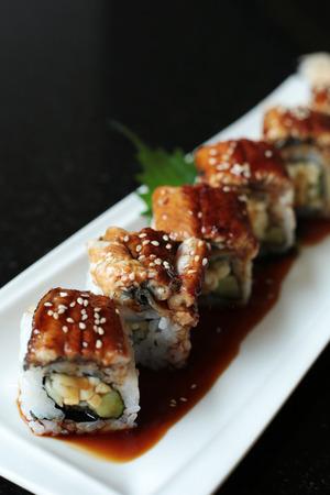 susi: Unagi Sushi Stock Photo