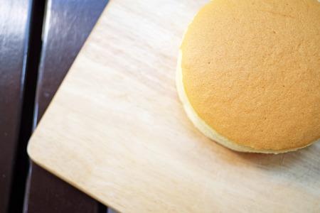 round: Homemade round cheese cake