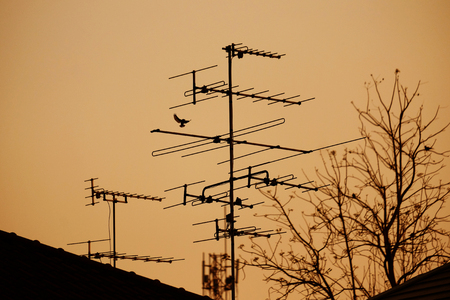 receiver: television pole receiver Stock Photo