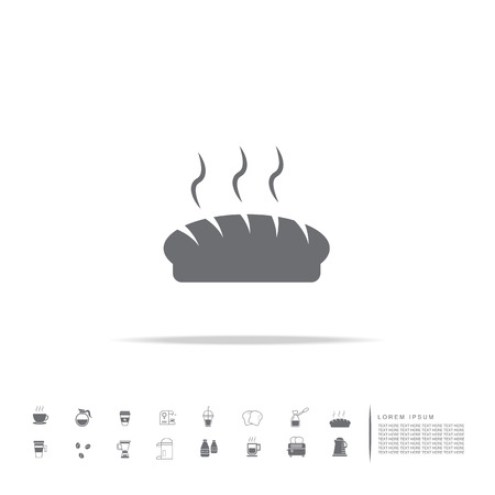 Bread icon isolated on a white background
