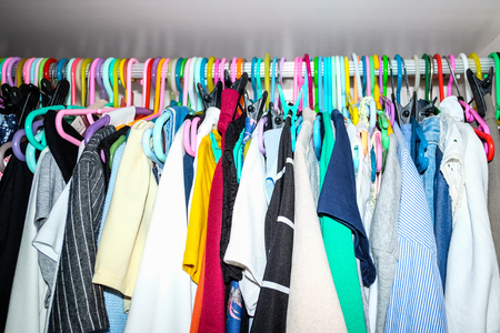 messy clothes: messy closet