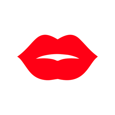 Print of lips kiss vector background.