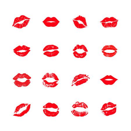 Impression de lèvres baiser fond de vecteur
