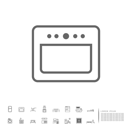 stove in kitchen icon