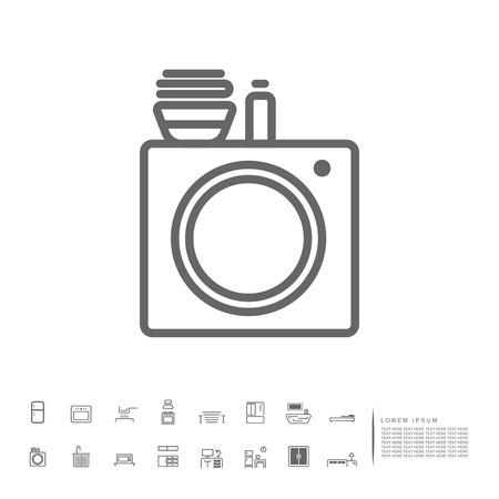 laundry machine icon Vektorové ilustrace