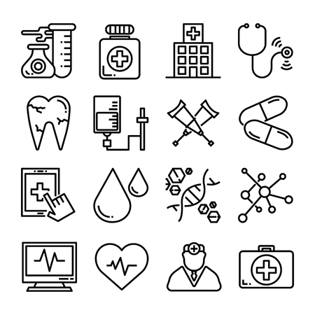 medical healthcare icon set