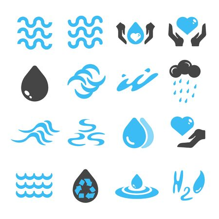 water environment, water drop and sea icon vector design and illustration Illustration