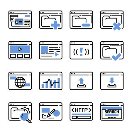 Interface Browser vector icon set