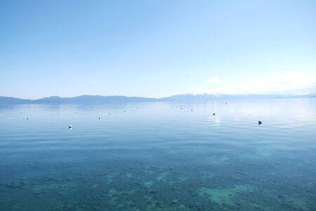Panorama scenic horizontal of the sea surface background Standard-Bild