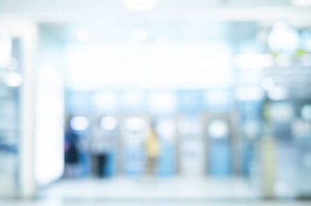 abstract blurred and defocused of ATM machine for withdraw or deposit cash money at bank office background Standard-Bild