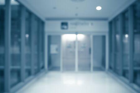 Hospital ward entrance, modern interior design, healthcare and medical concept