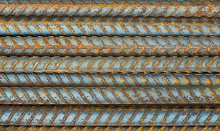 Rusty reinforcing bar background. photo