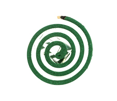 Burning mosquito coil as anti insect  Stock Photo - 17415655