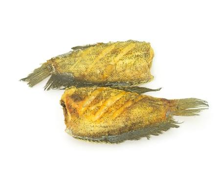 gourami: Fried Snake Skin Gourami Fish Stock Photo