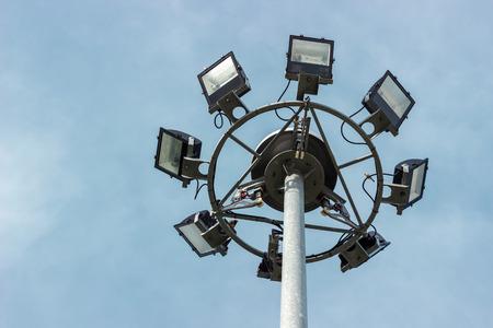 super highway: super highway lighting column with bird.