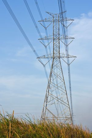 electricity in field Stock Photo - 6775455