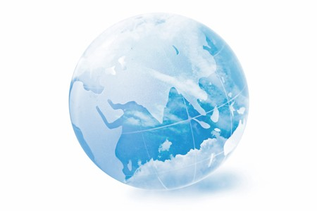blue globe Stock Photo - 8211626
