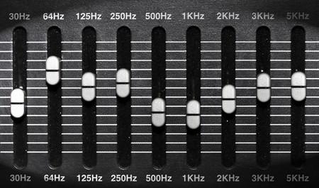 eq: ecualizador gr�fico Foto de archivo