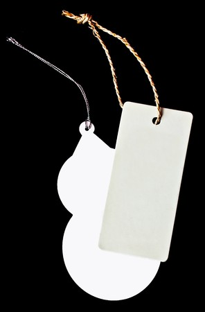 two price tags Stock Photo - 8211589