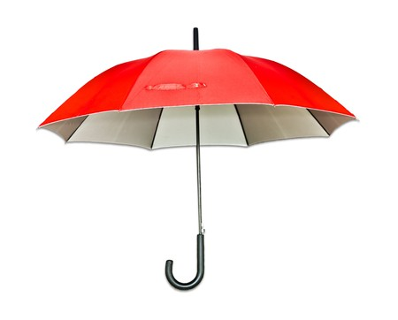 lluvia paraguas: paraguas rojo