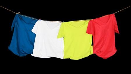kleurrijke shirts Stockfoto