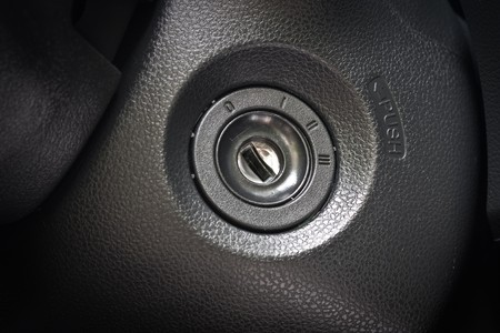beginnen met de auto  Stockfoto