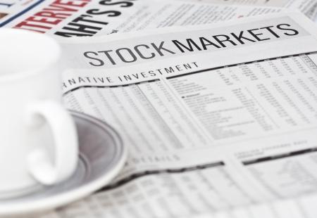 stock market newspaper Stock Photo - 8211629