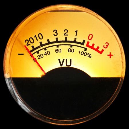 electric meter: vu meter Stock Photo