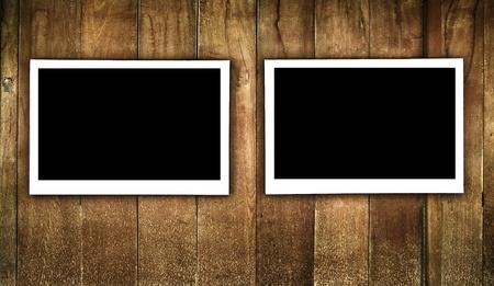 frame on wood photo