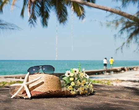 f�tes: vacances sur la plage.