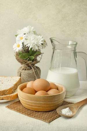 eggs and milk photo