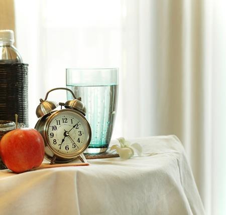 appel water: ochtend Stockfoto