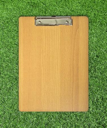 clip board on grass photo