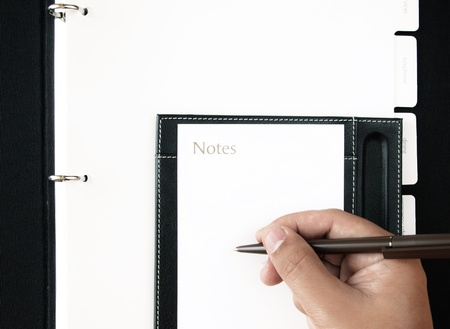 note a plan Stock Photo - 9312559