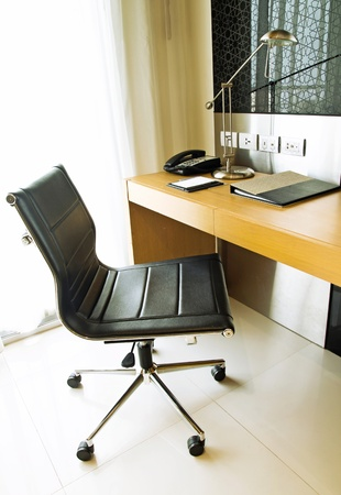 private room: working corner Stock Photo