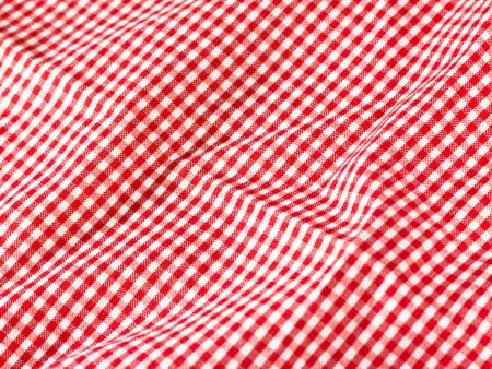 manteles: pa�o rojo de tabla Foto de archivo
