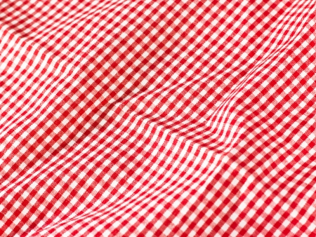 on the tablecloth: red table cloth