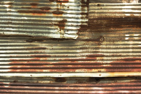 corrugated iron: old steel sheet Stock Photo
