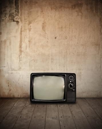 Televisie in kamer Stockfoto - 9746189