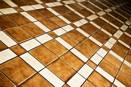 ground floor: brown ceramic tiled floor background