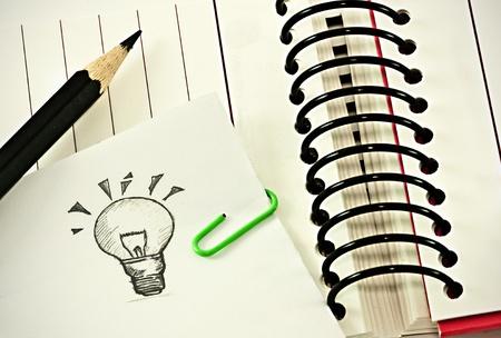 hausaufgaben: Notieren Sie sich die Idee