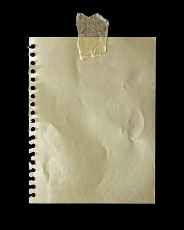 brown paper isolated for noting photo