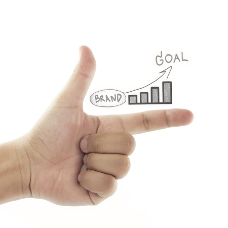 vision of building brand to goal (business success) Stock Photo - 10161317
